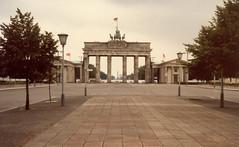 Brandenburg Gate from East Berlin, 1984 (Joel Abroad) Tags: berlin germany 1984 brandenburg