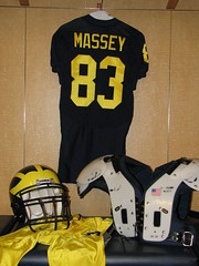 Gear Up (bekahlp) Tags: oregon football uniform michigan annarbor lockerroom bighouse universityofmichigan wolverines massey big10 goblue maizeandblue footballuniform