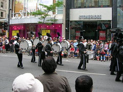 Montreal DrumLine Canada Day Parade 1 JULY 2007 MTL (richardbaxterkrock) Tags: california blue usa toronto canada streets cars plane studio drums james rainbow day mtl earth montreal ottawa devils trumpet neil tony parade corps richard lee rush butler dio ronnie baxter sg iommi dw cymbals dci sabbath geezer ritchie blackmore stix drumline supertramp peart geedy