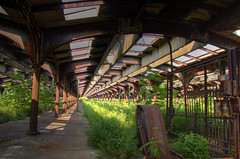 Historic Train Shed (Thad Roan - Bridgepix) Tags: railroad station architecture train newjersey rust nj rusty rail railway terminal historic depot railfan hdr trainshed hudsoncounty disusedrailway railfanning 1513 nationalregisterofhistoricplaces nrhp jerseycitycentralrailroadterminal 75001138 200709