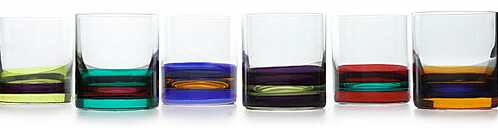 CAPRI DOUBLE OLD FASHIONED | Capri Double Old Fashioned Glasses - Colorful, Stylish, Hand Painted Cocktail Tumblers Made in Italy | UncommonGoods from uncommongoods.com