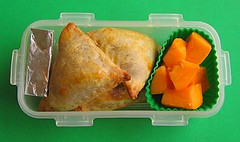 Empanada lunch for toddler (Biggie*) Tags: food cheese lunch box papaya bento packedlunch boxlunch bentobox empanadas empanada biggie brownbag lunchinabox sacklunch baglunch foodjar bentoblog thermalfoodjar ssbiggie lunchinaboxnet twittermoms