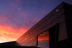 morphosis (fusion-of-horizons) Tags: architecture sunrise canon campus de photography design is photo university fotografie photos cincinnati alien powershot architect thom uc s3 mayne morphosis blueribbonwinner arhitectura abigfave arhitect fiveflickrfavs arhitectur theperfectphotographer goldstaraward kzf universityofcincinnatirecreationcenter