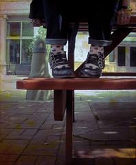 Happy Picnic Bench Monday (Opal in the rough) Tags: portrait feet me self john bench shoes picnic monday straps maryjane fluevog