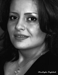 (Moustapha B) Tags: birthday portrait bw black eye love smile hope poem iran  2010 89 elham         g9    canong9