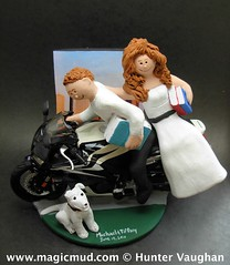 Honda Crotch Rocket Motorcyle Wedding Cake Topper