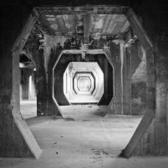 SNIA_S#8 (EBcoro) Tags: white black abandoned industry 6x6 square concrete industrial decay format umbria terni abbandono decadenza sniaviscosa