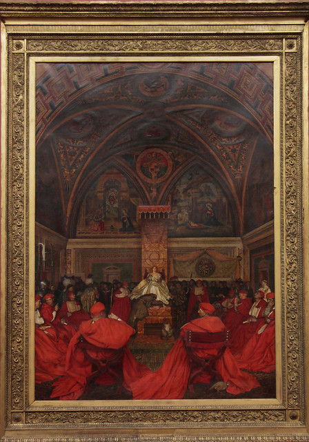 Lucretia Borgia Reignes in the Vatican in the Absence of Pope Alexander VI, Frank Cadogan Cowper, 1914