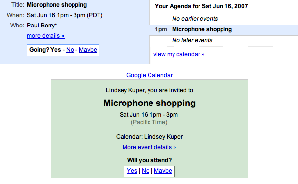 I am invited to microphone shopping with Paul
