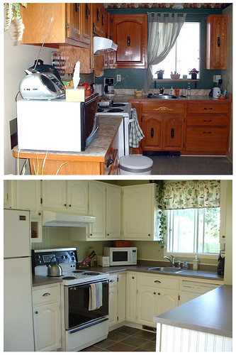 My new kitchen · My new home : BEFORE AND AFTER renovation