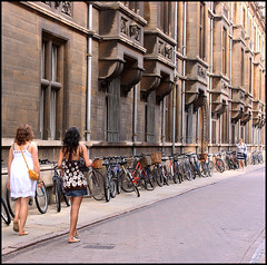 Cambridge Suicide Sunday Girls: To die for? (Sir Cam) Tags: cambridge girls england ball may caius bicyles endofyear trinitystreet gonvilleandcaius suicidesunday