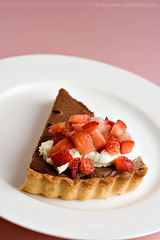 Chocolate Mascarpone Tart (HelenPalsson) Tags: dessert yummy strawberry chocolate strawberries pastry canon50mmf18 tart mascarpone 50mm18 50mmf18 canon50mm18 doriegreenspan 20070620