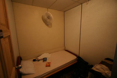 My 4 sq.meter room at the nice Banana Guesthouse...