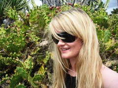 First day in Tenerife (Elsa Prinsessa) Tags: cactus portrait holiday selfportrait green girl smile sunglasses tenerife elsa elsaprinsessa elsabjrgmagnsdttir