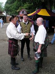 Steve, Jesse, and Jim C - Maryland Renaissance Festival 2006 (jrozwado) Tags: friends usa jesse kilt steve maryland tights renaissancefestival menintights