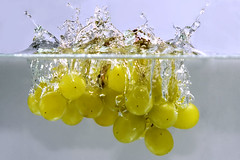 Splashing Grapes - by AHMED...
