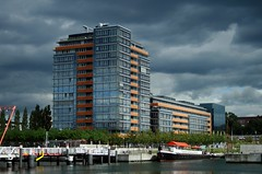 Kiel (jenni983) Tags: sea house building architecture clouds canon germany eos ship kiel 2007 kld kielerfrde 400d kaicity takeningermany janineschiefler