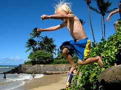 Jump 1 (Kanoe Blue Photo) Tags: palms hawaii jump maui keiki sugarcove