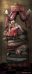 The princess and the pea, (moonmomma1) Tags: digital photomanipulation photoshop photoshopped digitalart manipulation photoshoproyalty