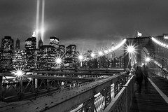 WTC Tribute in lights, NYC 2007 (noamgalai) Tags: park new york nyc bridge people white ny newyork black brooklyn photography photo memorial downtown remember worldtradecenter towers 911 battery picture twin 11 september photograph memory brooklynbridge terror twintowers wtc sept groundzero tributeinlight allrightsreserved 2007 facebook   photomania  noamg tributeinlights noamgalai   wwwnoamgalaicom