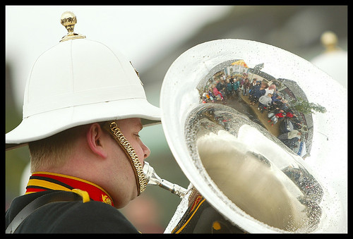 Royal Marine Band tuba player during Invergordon Fleet Day