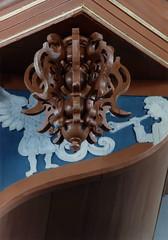 Uttum, Ostfriesland, organ, faade,detail (groenling) Tags: carving organ ostfriesland engel faade orgel niedersachsen shawm pauluskirche prospekt schalmei uttum