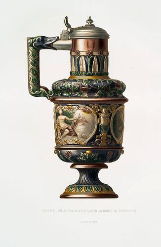 007-Jarra de cerveza- colección del  barón Alfonso de Rothschild-Monographie de l'oeuvre de Bernard Palissy…1862