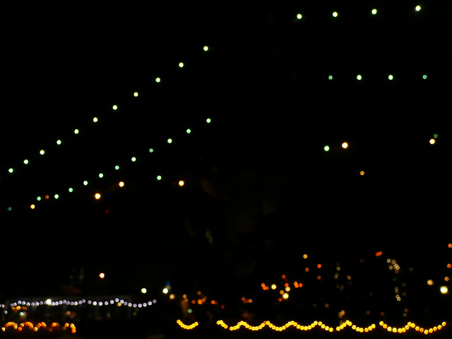 brooklyn bridge, in lights.