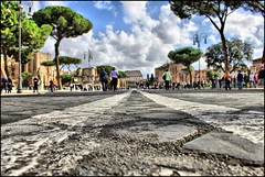 Road to Colosseo (Carmelo Burgio) Tags: rome roma canon eos foriimperiali hdr highdynamicrange colosseo 500d canoneos500d