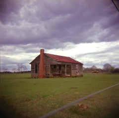 Don't pass me by (anmyk) Tags: house abandoned 120 6x6 film field rural ga mediumformat georgia holga lomo lomography fuji cloudy decay toycamera overcast southern pasture squareformat pro shack cracker abandonment tinroof plasticcamera electricfence 120n sideoftheroad deepsouth 160 plasticlens 160s plasticlense ruraldarkness anomyk