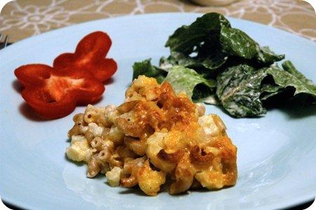 Mac n' cheese n' cauliflower