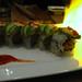 Fiery sushi roll
