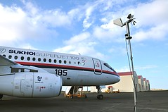 SSJ100 Keflavik Airport (SuperJet International) Tags: venice sky italy green london corporate flying is iceland airport russia moscow aircraft aviation jets airshow international siberia commercial armenia program 100 keflavik russian yerevan turin towards regional 2010 certification aeroflot livery sukhoi completion aeronautica progressing regionaljet 2011 alenia moscowregion zhukovsky superjet scac aircrfat armavia regionaljets finmeccanica greenaircraft superjet100 ssj100 sam146 sukhoisuperjet katsuhikotokunaga sukhoicivilaircraft farnborough2010 komsomolskontheamur
