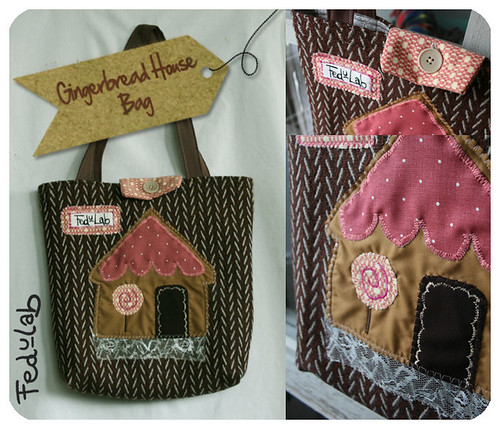 Gingerbread house bag