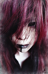 We are who we are (Hiroshima Photography) Tags: pink woman black girl beauty face up lady mouth hair asian dead death slick blood long close purple shot streak emo crying scene lips hiroshima thai contacts oil demon poison grime bleeding sick dribble lenses supernatural sclera plingeh