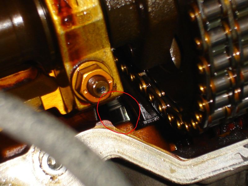 Change the timing chain tensioner the easy way