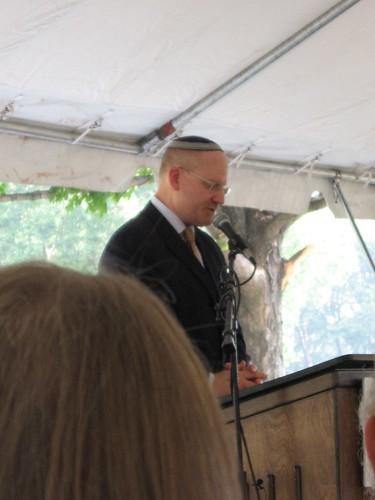 a rabbi gives a benediction