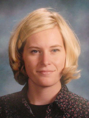 blond teacher hair, maybe 2003 or 2004?