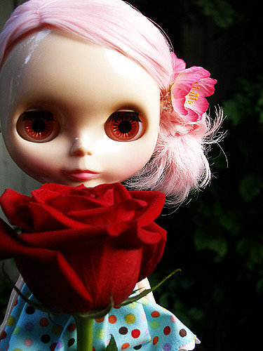 Lamb's Red Rose by milkdoll.