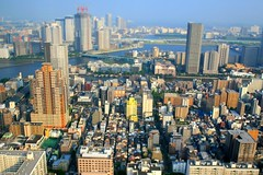 Nakayan's tilt-shift Tsukishima residential area-Tokyo 箱庭 月島住宅街---03f3d5e8