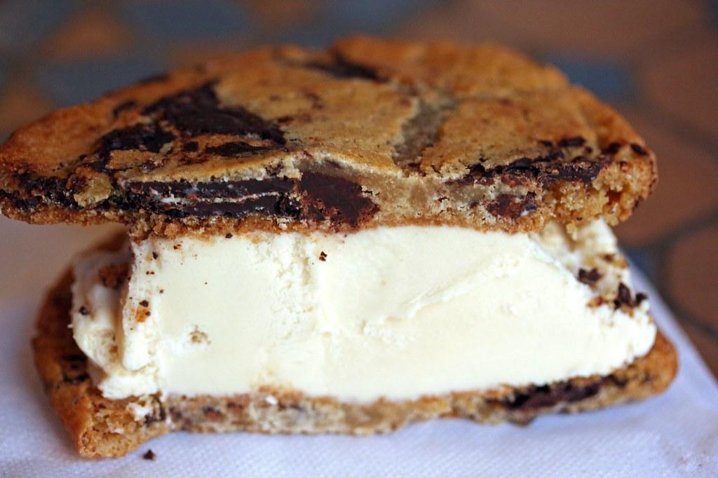 Innards of Hazelnut Ice Cream sandwich