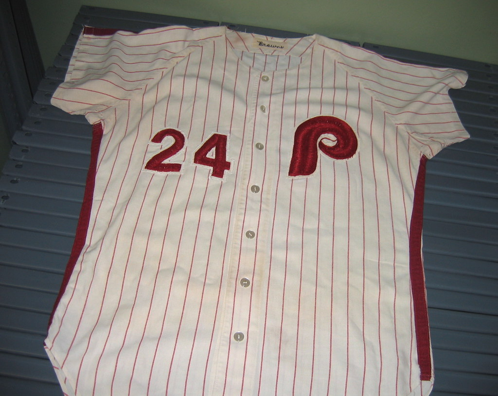 c3fcfba78 I loved all the chain-stitching on this 1970 Phillies jersey (worn ...