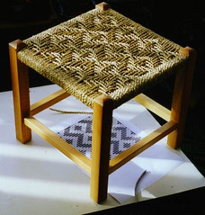 zigzag seagrass stool