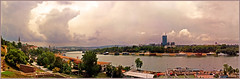 Panorama: Beograd (Katarina 2353) Tags: park old city bridge sky urban panorama tower history film wall clouds river photography town nikon europe flickr view image roman fort south capital serbia most keep belgrade southeast grad fortress beograd stari sava srbija kalemegdan reka castrum novibeograd newbelgrade katarinastefanovic katarina2353
