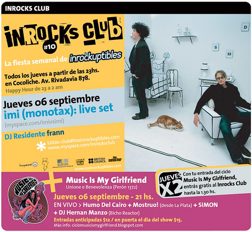 Flyer Virtual de Inrocks Club + MIMG
