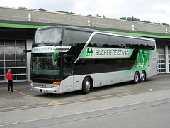 Setra S431 DT of Bucher Travel, Lucerne, Switzerland (Reto Kurmann) Tags: bus switzerland coach setra s431dt buchertravel