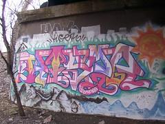 Kiser (Mr. Montrose) Tags: railroad bridge chicago graffiti rr 16th frontier kiser nearsouthside justchicagoart
