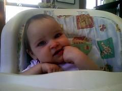Talia eating