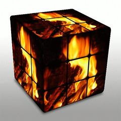 FireCube Animation (PhotoMasterGreg) Tags: color manipulated fire nikon greg d70 gimp manipulation cube animation animated rubikscube photomaster dumpr photomastergreg