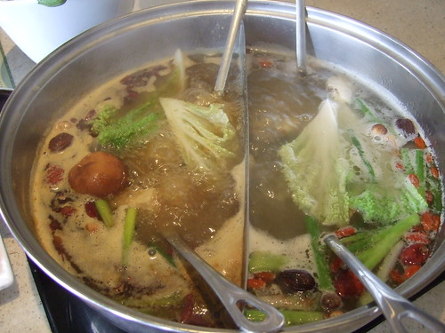 Vegetables are added to broth